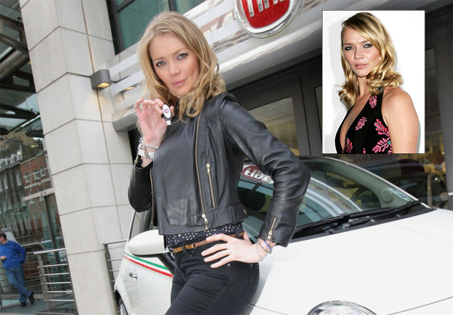 Jodie Kidd drives a fiat