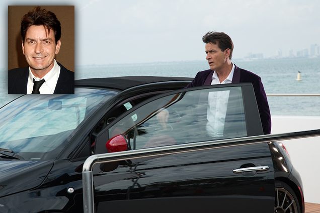 Charlie Sheen Drives a Fiat