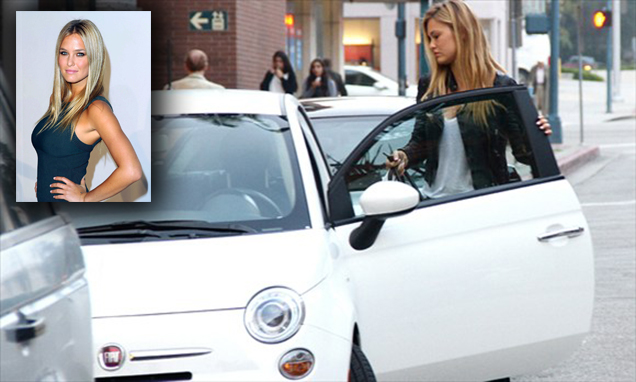Bar Rafaeli drives a fiat
