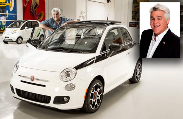 Jay Leno drives a fiat