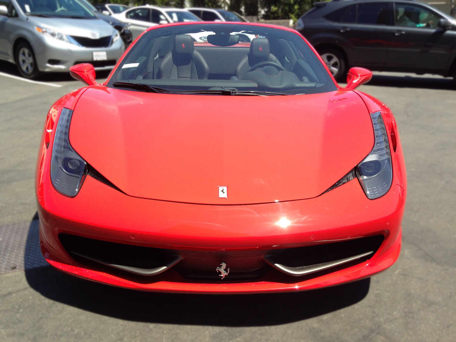 Rent a 2014 ferrari 458 italia midway car rental midway car rental 2014 ferrari 458 italia front view vanachro Image collections