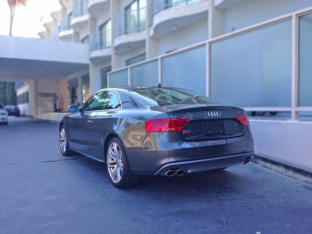 The Rear View of the Audi S5 2015.