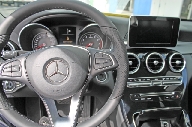 Interior of the 2015 Mercedes C Class C300