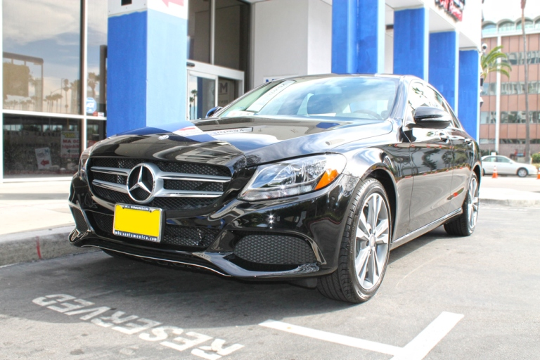 Side view of the 2015 Mercedes C Class C300